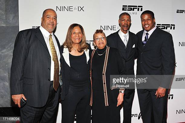 Timothy Stoner C Vivian Stringer Thelma Stoner Rufus Williams and Justin Stringer attend the 'Venus Vs' and 'Coach' screenings at the Paley Center...