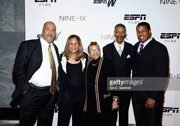 Timothy Stoner C Vivian Stringer Thelma Stoner Rufus Williams and Justin Stringer attend 'Venus Vs' and 'Coach' New York Special Screenings at Paley...