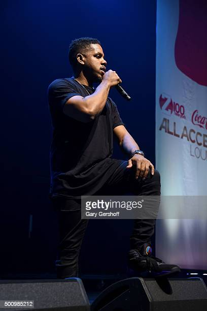 Timothy Thomas of R City performs onstage at Z100's Jingle Ball 2015 Z100 CocaCola All Access Lounge Show at Hammerstein Ballroom on December 11 2015...