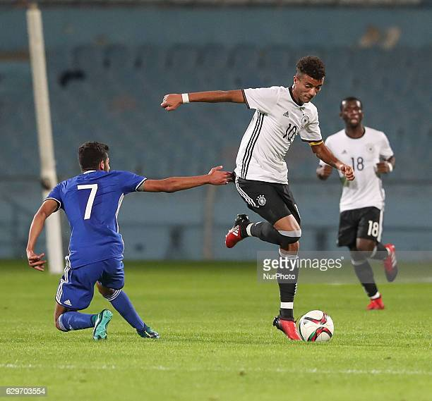 Timothy Tillman in action during the Under 18 International Friendly match between Israel and Germany on December 13 2016 in Ramat Gan Israel