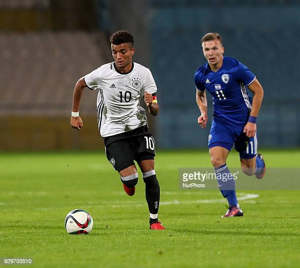 Timothy Tillman of Germany in action during the Under 18 International Friendly match between Israel and Germany on December 13 2016 in Ramat Gan...