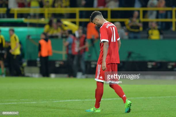 Timothy Tillman of Munich looks dejected during the U19 German Championship Final match between U19 Borussia Dortmund and U19 Bayern Muenchen at...