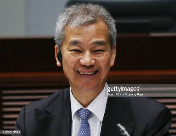 Timothy Tong Hinming former head of the Independent Commission Against Corruption attends a Legco Public Accounts Committee hearing at Legco Building...