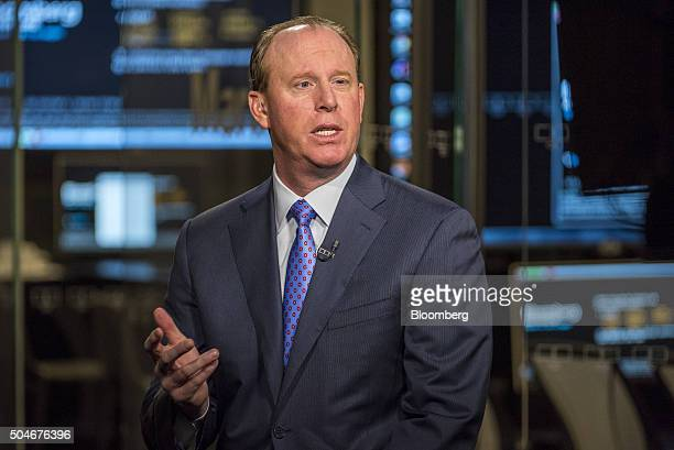 Timothy Walbert chief executive officer of Horizon Pharma Plc speaks during a Bloomberg Television interview in San Francisco US on Tuesday Jan 12...