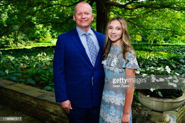 Timothy Ward and Zara Ward attend A Country House Gathering To Benefit Preservation Long Island on June 28 2019 in Locust Valley New York