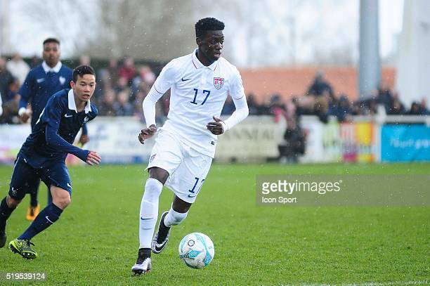 Timothy Weah during the U16 Mondial football final match between France U16 and USA U16 on March 28 2016 in Montaigu France