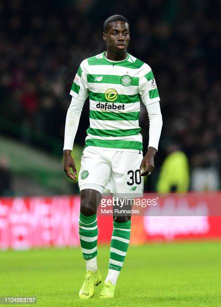 Timothy Weah of Celtic in action during the Ladbrokes Scottish Premiership match between Celtic and St Mirren at Celtic Park on January 23 2019 in...
