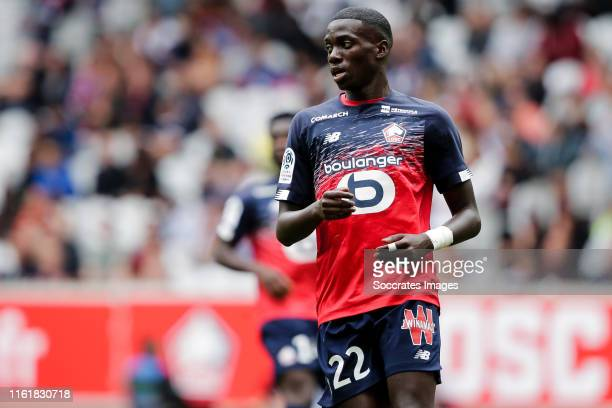 Timothy Weah of Lille during the French League 1 match between Lille v Nantes at the Stade Pierre Mauroy on August 11, 2019 in Lille France