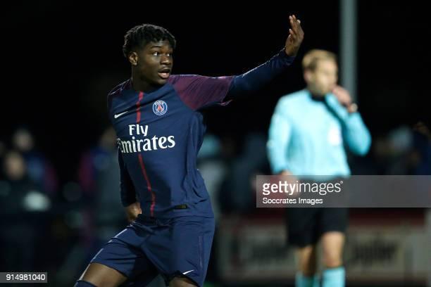 Timothy Weah of Paris Saint Germain U19 celebrates the victory during the match between Ajax U19 v Paris Saint Germain U19 at the De Toekomst on...