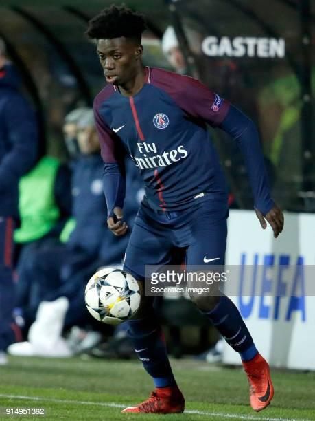 Timothy Weah of Paris Saint Germain U19 during the match between Ajax U19 v Paris Saint Germain U19 at the De Toekomst on February 6 2018 in...