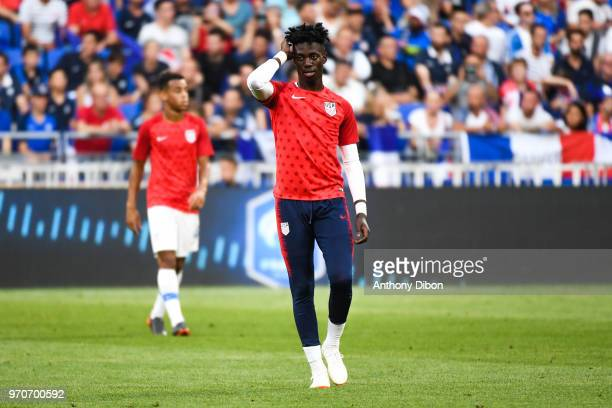 Timothy Weah of USA during the International Friendly match between France and United States at Groupama Stadium on June 9 2018 in Lyon France