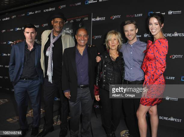 Timothy Woodward Jr Tony Todd Jeffrey Reddick Lin Shaye Michael Welch and Melissa Bolona arrive for Screamfest Closing Night 'Final Wish' held at the...