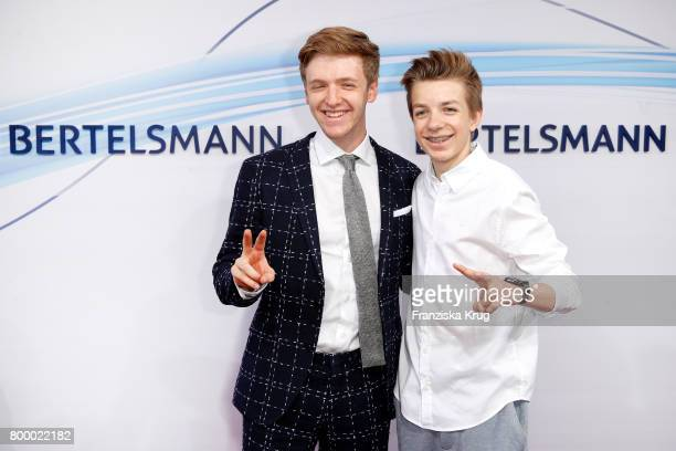 Timur Bartels and Nick Julius Schuck attend the 'Bertelsmann Summer Party' at Bertelsmann Repraesentanz on June 22 2017 in Berlin Germany