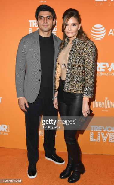 Timur Tillyaev and Lola Karimova attend The Trevor Project's 2018 TrevorLIVE LA Gala at The Beverly Hilton Hotel on December 2 2018 in Beverly Hills...