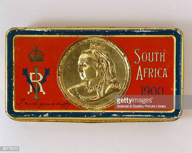 Tin can containing foodstuff featuring a portrait of Queen Victoria dating from the Boer War Nicholas Appert a French chef was the first to perfect...