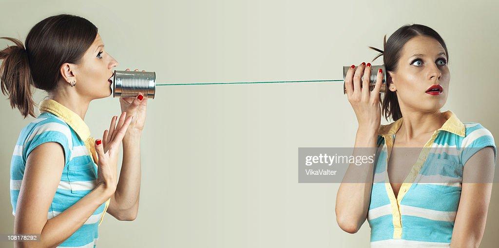 tin can phone : Stock Photo