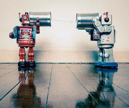 tin can phone robots 887309836