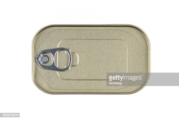 tin can, sardine can - canned food stock pictures, royalty-free photos & images