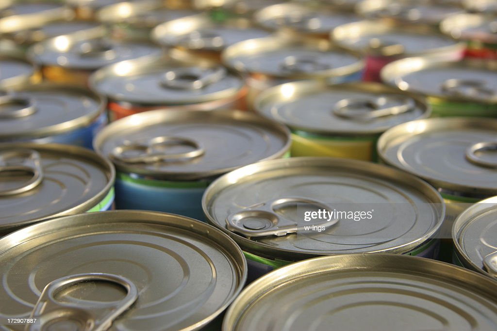 tin cans : Stock Photo