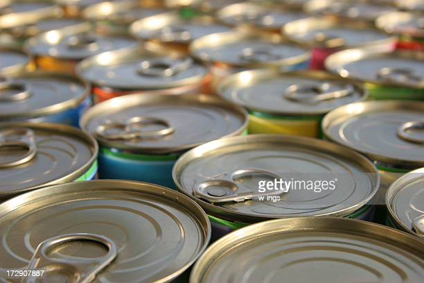 tin cans - canned food stock pictures, royalty-free photos & images
