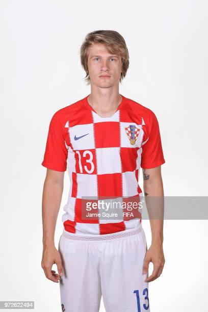 Tin Jedvaj of Croatia poses during the official FIFA World Cup 2018 portrait session at on June 12 2018 in Saint Petersburg Russia