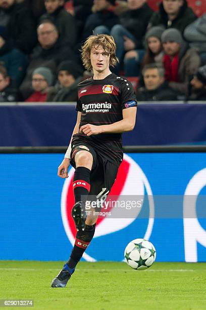 Tin Jedvaj of Leverkusen in action during the UEFA Champions League match between Bayer Leverkusen and AS Monaco at the BayArena in Leverkusen...