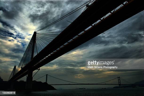 Tin Kau Bridge and Tsing Ma Bridge