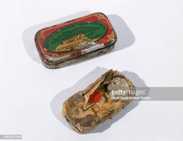 Tin of meat lozengers George Mallory and Andrew Irvine famously disappeared en route to the summit of Mount Everest on 8th June 1924 Mallory's body...