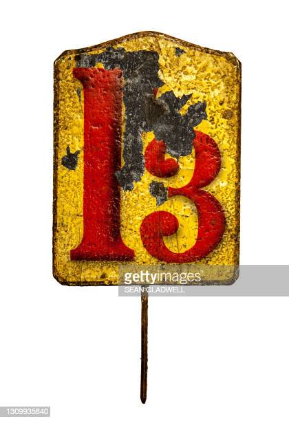 tin plate 13 - bad luck stock pictures, royalty-free photos & images