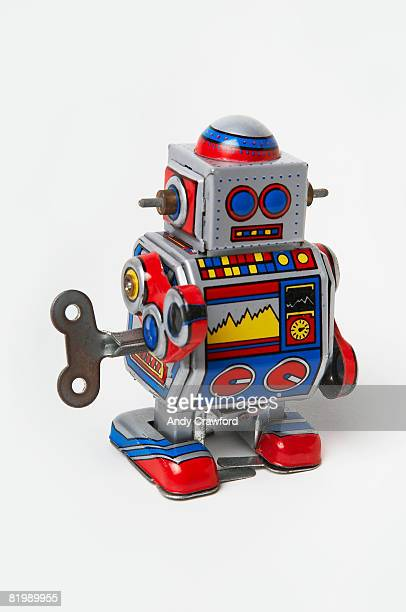 Tin wind-up robot toy