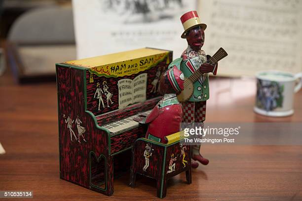 SAM tin windup toy 'The Minstrel Team' is part of the Howard Wolverton Collection of Black American History being prepared for auction at the Quinn's...