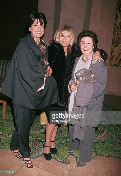 Tina and Nancy Sinatra accompany their mother Nancy at Merv Griffin's Coconut Club for a special performance by Polly Bergen prior to her opening on...