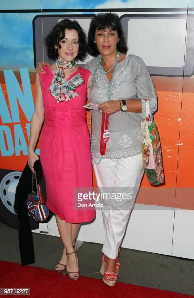 Tina Arena and Linda Gregoriou attend the opening night of the St George OpenAir Cinema and Sydney premiere of Bran Nue Dae at Mrs Macquaries Point...
