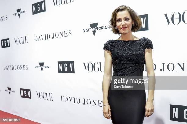 Tina Arena arrives ahead of the NGV Gala at NGV International on August 26 2017 in Melbourne Australia