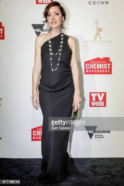 Tina Arena arrives at the 59th Annual Logie Awards at Crown Palladium on April 23 2017 in Melbourne Australia