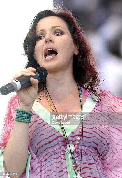 Tina Arena during LIVE 8 Paris Show at Palais de Versailles in Paris France