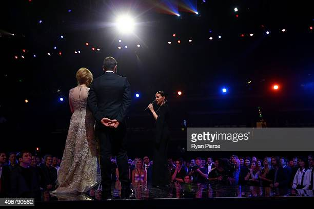 Tina Arena is inducted into the ARIA Hall Of Fame during the 29th Annual ARIA Awards 2015 at The Star on November 26 2015 in Sydney Australia