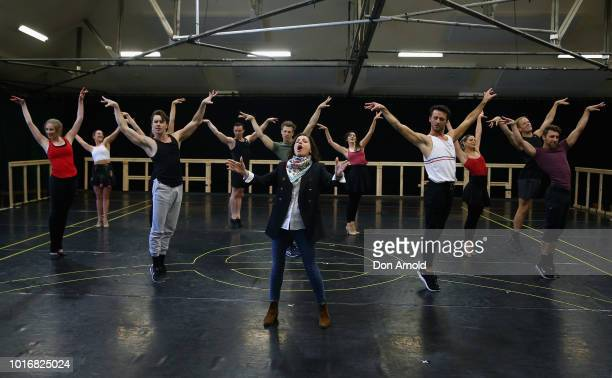 Lyndon Terracini and John Frost address media during rehearsals for Evita The Musical on August 15 2018 in Sydney Australia