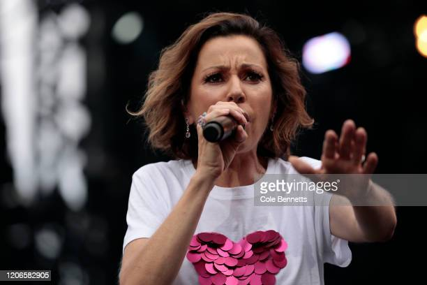 Tina Arena performs during Fire Fight Australia at ANZ Stadium on February 16 2020 in Sydney Australia