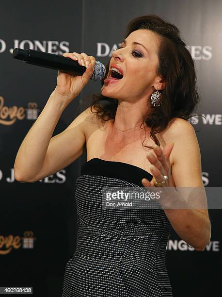Tina Arena performs live at David Jones Castlereagh St store on December 11 2014 in Sydney Australia
