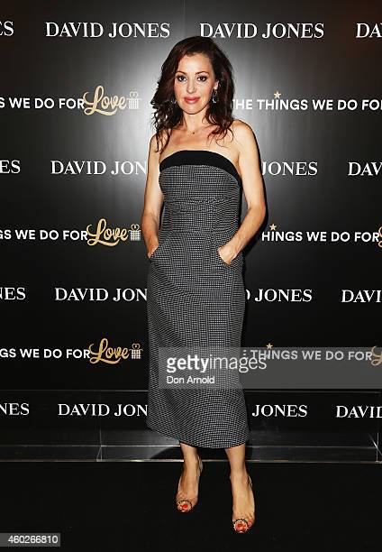 Tina Arena poses at David Jones Castlereagh St store on December 11 2014 in Sydney Australia