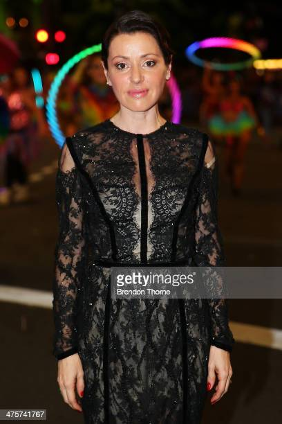 Tina Arena poses during the 2014 Sydney Gay Lesbian Mardi Gras Parade on March 1 2014 in Sydney Australia The Sydney Mardi Gras parade began in 1978...