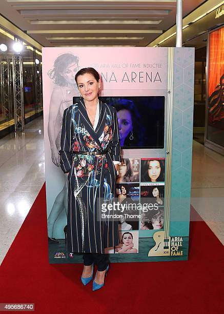 Tina Arena poses for media during the inaugural opening of the ARIA Hall of Fame walk at The Star on November 5 2015 in Sydney Australia