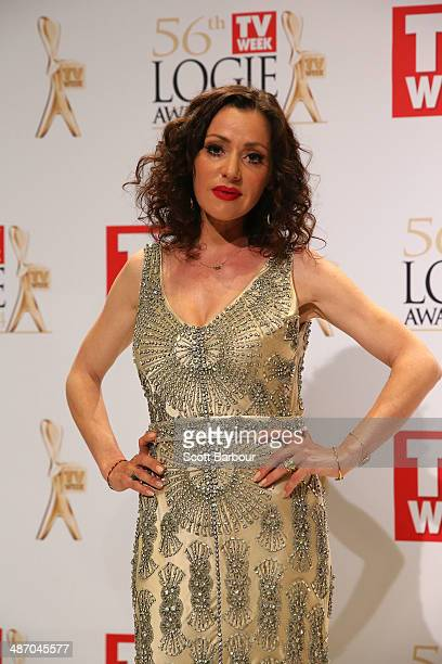 Tina Arena poses in the awards room at the 2014 Logie Awards at Crown Palladium on April 27 2014 in Melbourne Australia
