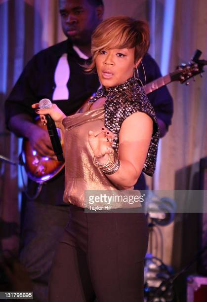 Tina AtkinsCampbell performs at the Canal Room on February 22 2011 in New York City