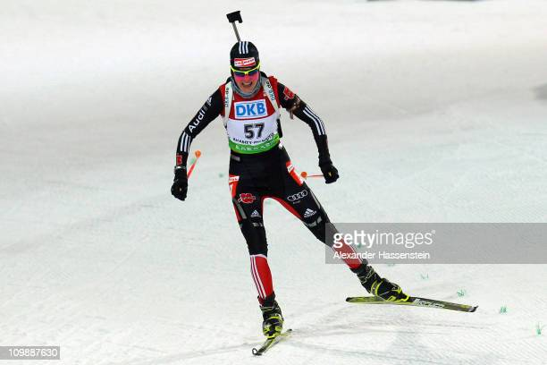 Tina Bachmann of Germany competes in the women's 15km individual race during the IBU Biathlon World Championships at A.V. Philipenko winter sports...