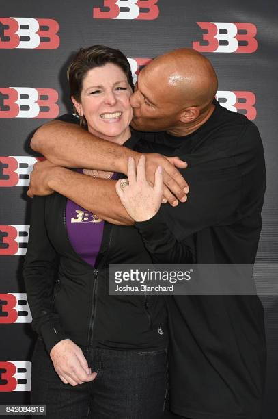 Tina Ball and LaVar Ball attend Melo Ball's 16th Birthday on September 2 2017 in Chino California