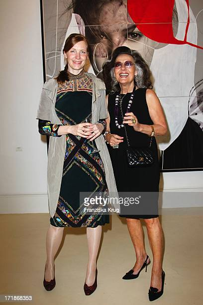 Tina Berning And Angelica Blechschmidt at the Opening 'Face