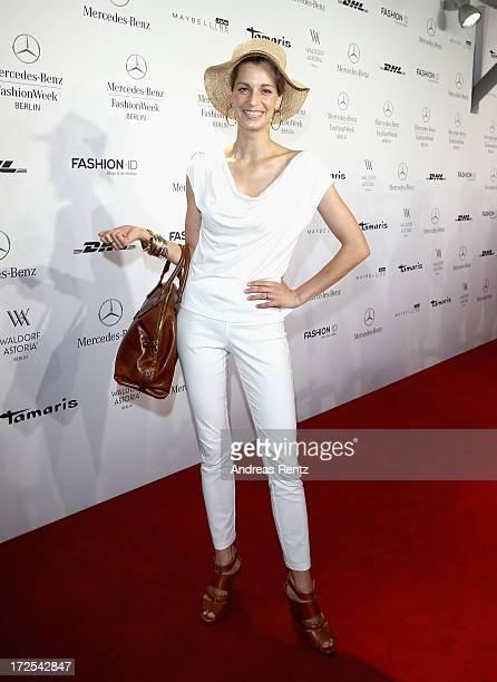 Tina Bordihn attends the Minx By Eva Lutz show during MercedesBenz Fashion Week Spring/Summer 2014 at Brandenburg Gate on July 3 2013 in Berlin...