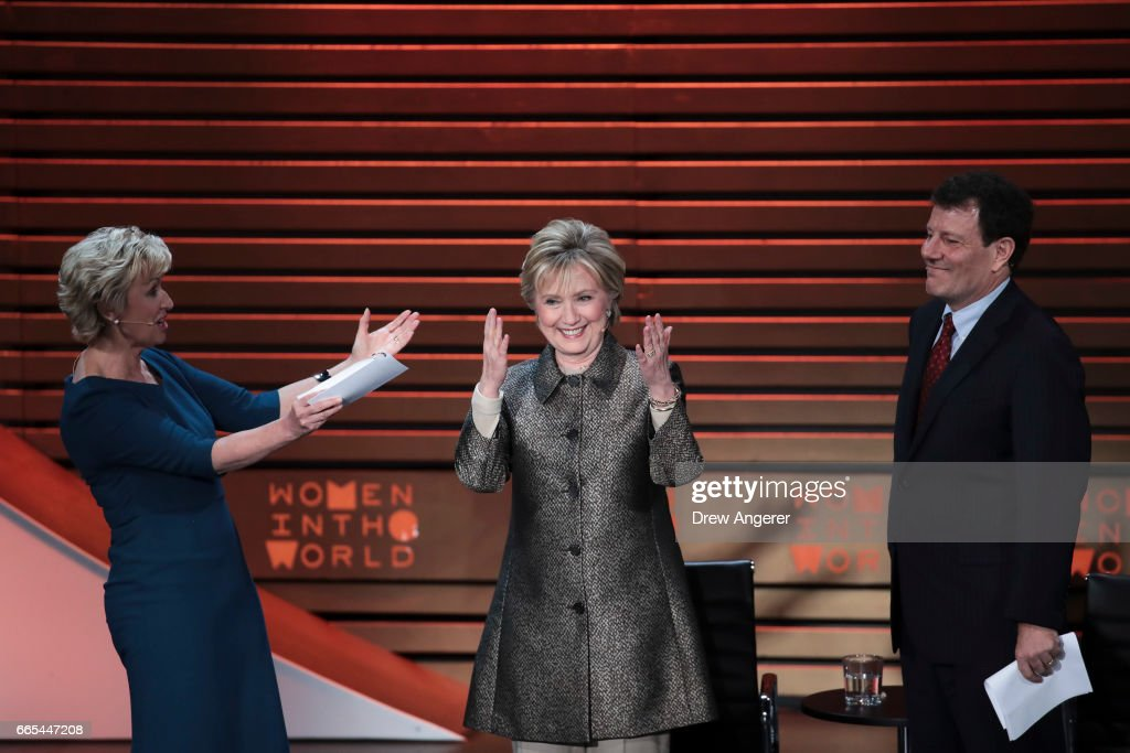Hillary Clinton Addresses The Women In The World Summit In New York